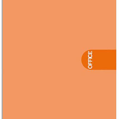 Bloc de bureau 1er prix agrafé en-tête - 160 pages - non perforées - 80g - 5x5 - 21x31,8 cm (A4+) - Couverture orange (photo)