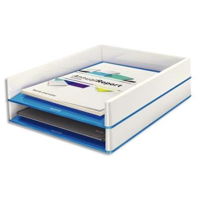 Corbeille à courrier Leitz Dual blanc/bleu métallisé