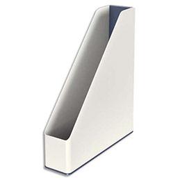 Porte-revues Leitz Dual - dos 7,3 cm - H31,8 x P27,2 cm - blanc/gris métallisé