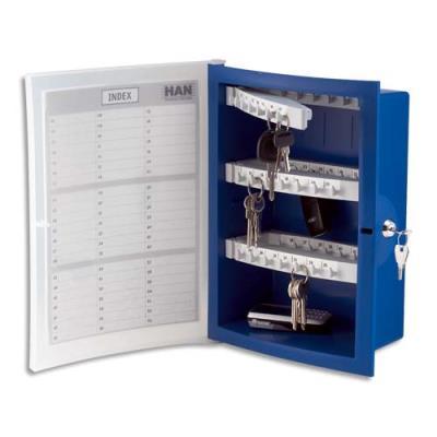Boîte à clés design en polystyrène - capacité 63 clés (photo)