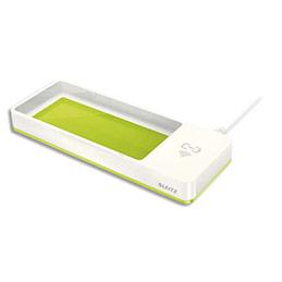 Plumier Leitz Dual avec technologie recharge sans fil QI - L26,6 x H2,8 x P10,1 cm - vertmétallisé (photo)