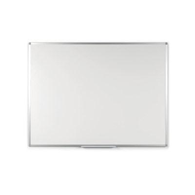 Tableau blanc Emaillé - magnétique - cadre aluminium - 90 cm x 180 cm