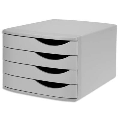 Module de classement Jalema en polystyrène 100% recyclé - 4 tiroirs - gris
