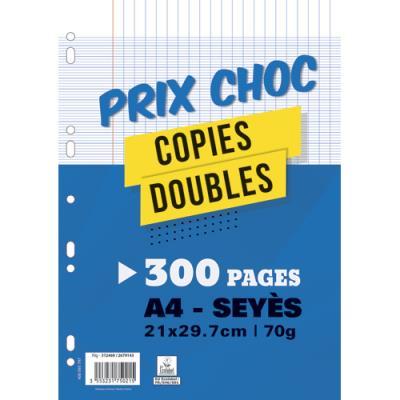 Pages copies doubles - 70 g - A4 - grands carreaux - 200 + 100 gratuites