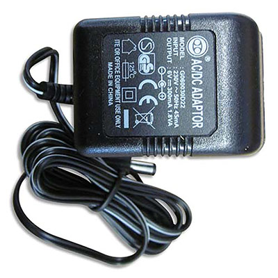 Adaptateur 6 volts pour calculatrice imprimante professionnelle (photo)