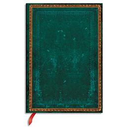 Carnet Paperblanks - reliure classique à l'ancienneViridian - 13 x 18 cm - 144 pages - ligné - vert