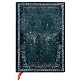 Carnet Paperblanks - reliure classique à l'ancienne acier - 13 x 18 cm - 144 pages - ligné (photo)