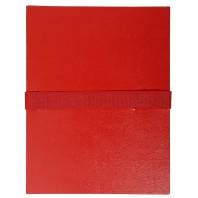 Chemise extensible Exacompta - en balacron - fermeture par sangle velcro - rouge