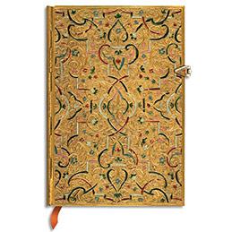 Carnet Paperblanks - Marqueterie d'Or - 9,5 x 14 cm - 208 pages - ligné (photo)