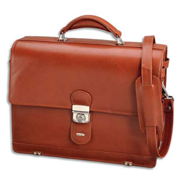 Attaché case Alassio Mocca - 3 compartiments dont 1 pour ordinateur portable (photo)