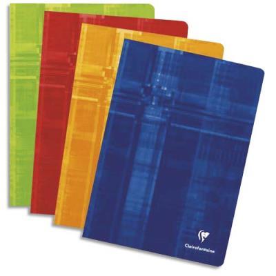 Cahier Clairefontaine Metric - reliure piquée - 24x32 cm - 192 pages - grands carrreaux - papier 90g