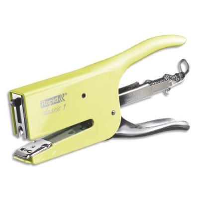 Pince agrafeuse Rapid K1  - En métal - Agrafes 26/6-8+ - Capacité 50 feuilles - jaune