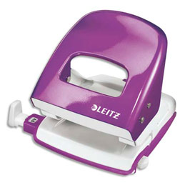 Perforateur 2 trous Leitz WOW - 30 feuilles - effort réduit de 60% - violet (photo)