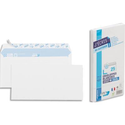 Enveloppes 110x220 GPV - blanches - auto-adhésives - 90 g - paquet de 25 (photo)