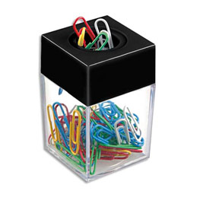 Distributeur magnétique de trombones JPC Créations - fourni avec 50 trombones coloris assortis (photo)