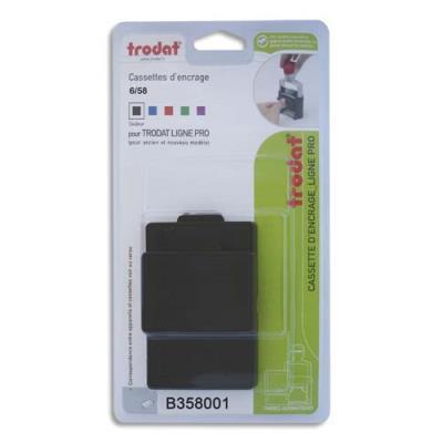 Blister de 3 cassettes Trodat 6/58 noire pour appareils Trodat métal Line 5208, 5480, 4208, 4480 B358001 (photo)