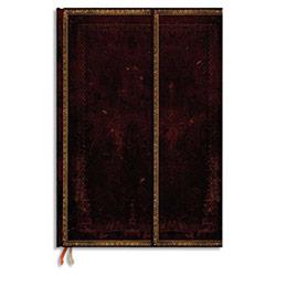Carnet Paperblanks - reliure classique à l'ancienne Marocain - 13 x 18 cm 144 pages - ligné - noir