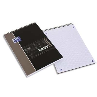 Bloc de bureau Oxford Easy Note - spiralé - couverture polypro - 160 pages - seyès - 21 x 31,5 cm