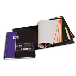 Cahier Oxford Projectbook - spiralé - couverture polypro - 200 pages - 5x5 - 23,3 x 29,8 cm