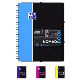 Cahier oxford nomadbook reliure spirales a4 160 pages grands carreaux coloris - Cahier oxford office book ...