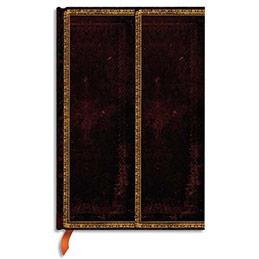 Carnet Paperblanks - reliure classique à l'ancienne Marocain Flexi - 9,5 x 14 cm - 208 pages - ligné - noir