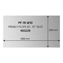 PORT- Filtre anti-indiscrétion - largeur 19 pouces