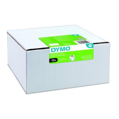 Étiquettes multi-usages S0722540 pour titreuse labelWriter 57 x 32 mm - noir sur fond blanc - paquet 12 rouleaux