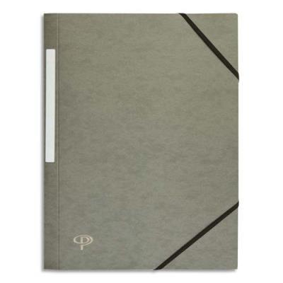 Chemise 1er prix 3 rabats et élastique - carte 5/10e - gris (photo)