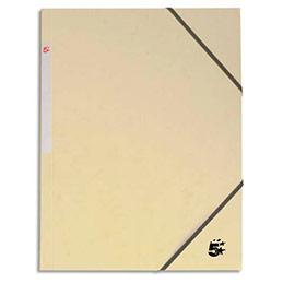 Chemise 1er prix 3 rabats et élastique - carte 5/10e - ivoire (photo)
