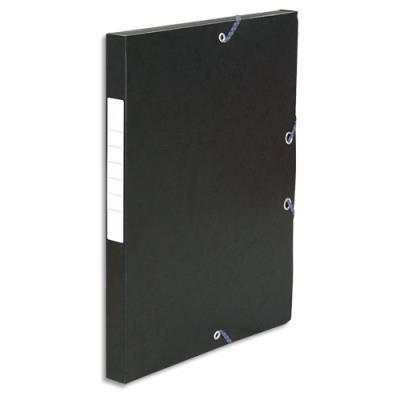 Boîte de classement 5 Etoiles - dos de 2,5 cm - carte lustrée - noir (photo)