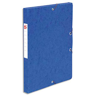 Boîte de classement 5 Etoiles - dos de 2,5 cm - carte lustrée - bleu (photo)