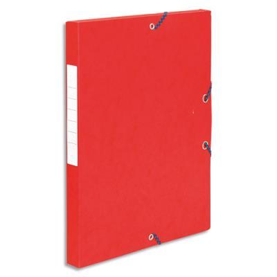 Boîte de classement 5 Etoiles - dos de 2,5 cm - carte lustrée - rouge (photo)