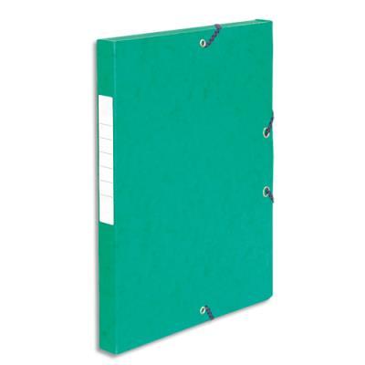 Boîte de classement 5 Etoiles - dos de 2,5 cm - carte lustrée - vert (photo)