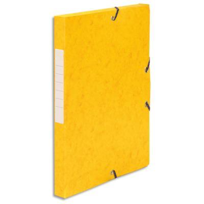 Boîte de classement 5 Etoiles - dos de 2,5 cm - carte lustrée - jaune (photo)