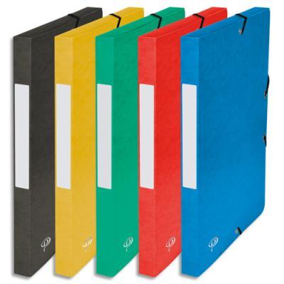 Boîte de classement 5 Etoiles - dos de 2,5 cm - carte lustrée - coloris assortis (photo)