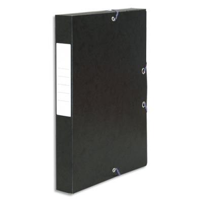 Boîte de classement 5 Etoiles - dos de 4 cm - carte lustrée - noir (photo)