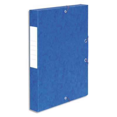 Boîte de classement 5 Etoiles - dos de 4 cm - carte lustrée - bleu (photo)