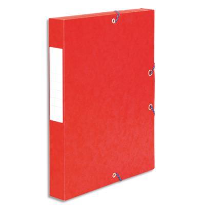 Boîte de classement 5 Etoiles - dos de 4 cm - carte lustrée - rouge (photo)