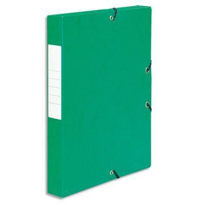 Boîte de classement 5 Etoiles - dos de 4 cm - carte lustrée - vert (photo)