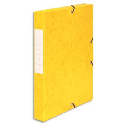 Boîte de classement 5 Etoiles - dos de 4 cm - carte lustrée - jaune (photo)
