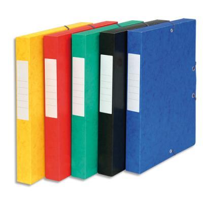 Boîte de classement 5 Etoiles - dos de 4 cm - carte lustrée - coloris assortis (photo)