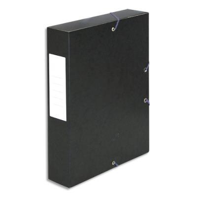 Boîte de classement 5 Etoiles - dos de 6 cm - carte lustrée - noir (photo)