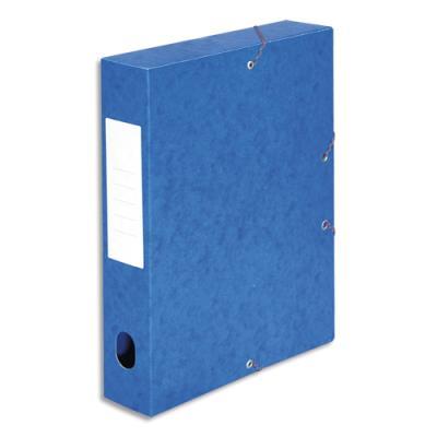 Boîte de classement 5 Etoiles - dos de 6 cm - carte lustrée - bleu (photo)