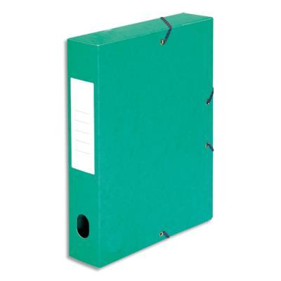 Boîte de classement 5 Etoiles - dos de 6 cm - carte lustrée - vert (photo)