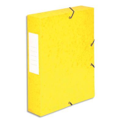 Boîte de classement 5 Etoiles - dos de 6 cm - carte lustrée - jaune (photo)