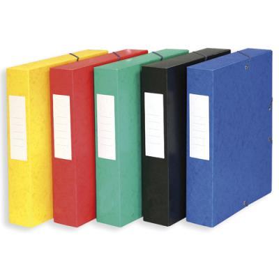 Boîte de classement 5 Etoiles - dos de 6 cm - carte lustrée - coloris assortis (photo)