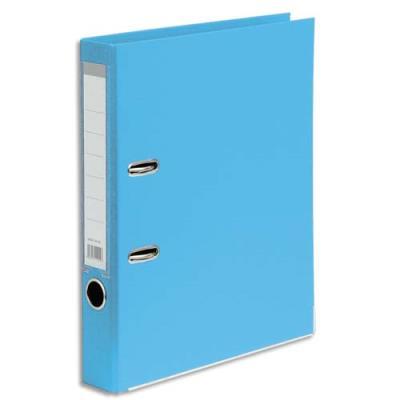 Classeur à levier 1er prix - polypropylène - dos 5 cm - A4 - bleu clair