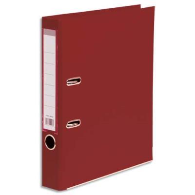 Classeur à levier 1er prix - polypropylène - dos 5 cm - A4 - rouge foncé (bordeaux)