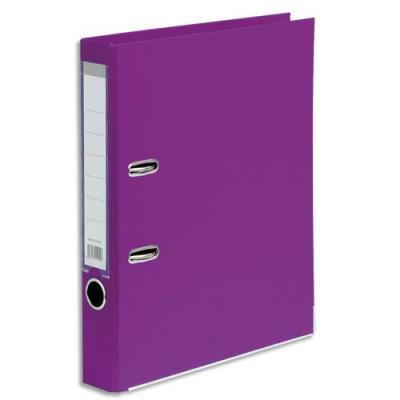 Classeur à levier 1er prix - polypropylène - dos 5 cm - A4 - violet