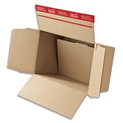 Caisse carton à fond automatique hauteur variable et fermeture autocollante 44,5 x 31,5 x 18-30 cm (photo)